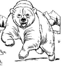 Bear is Angry Coloring Page
