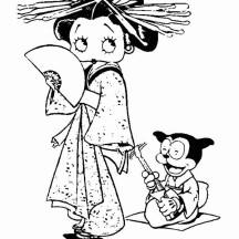 Betty Boop Geisha Coloring Page
