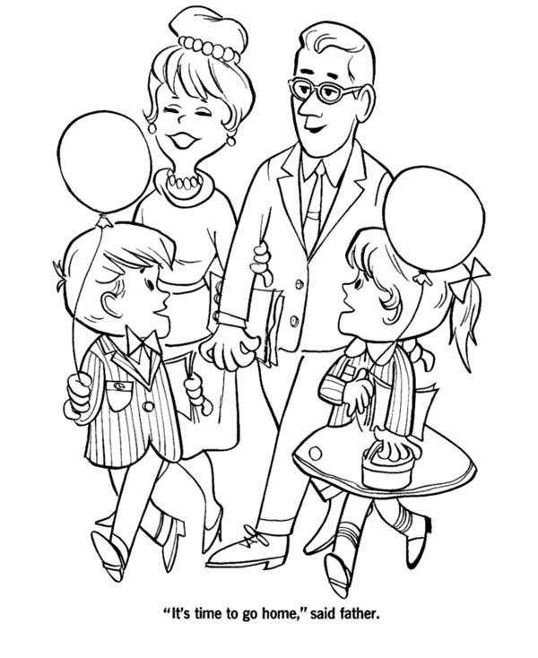 Big Family Visiting Grandparents