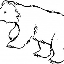 Black Bear is Hungry Coloring Page