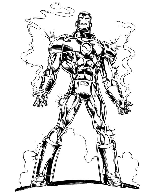 Bullet Proof Iron Man Coloring Page