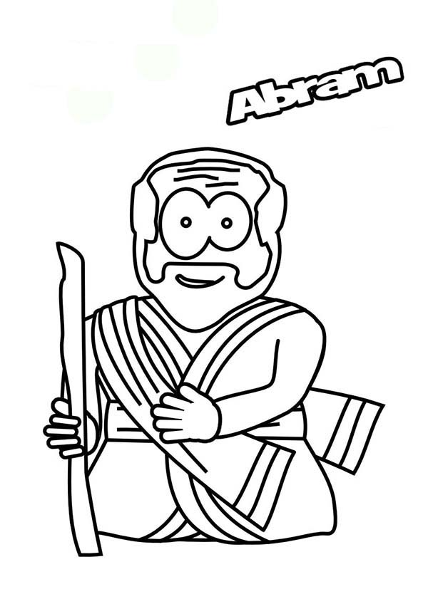 Cartoon Of Abraham The Bible Heroes Coloring Page