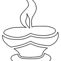 Celebrate Light Victory Over Darkness on Diwali Coloring Page