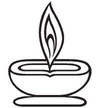 Celebrating Light Festival in Diwali Coloring Page