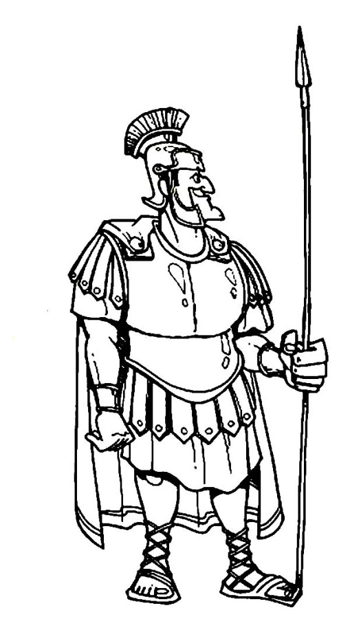 Centurion Cornelius In Armor And A Spear In The Bible