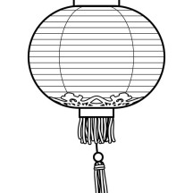 Chinese Traditional Lantern in Chinese Symbols Coloring Page