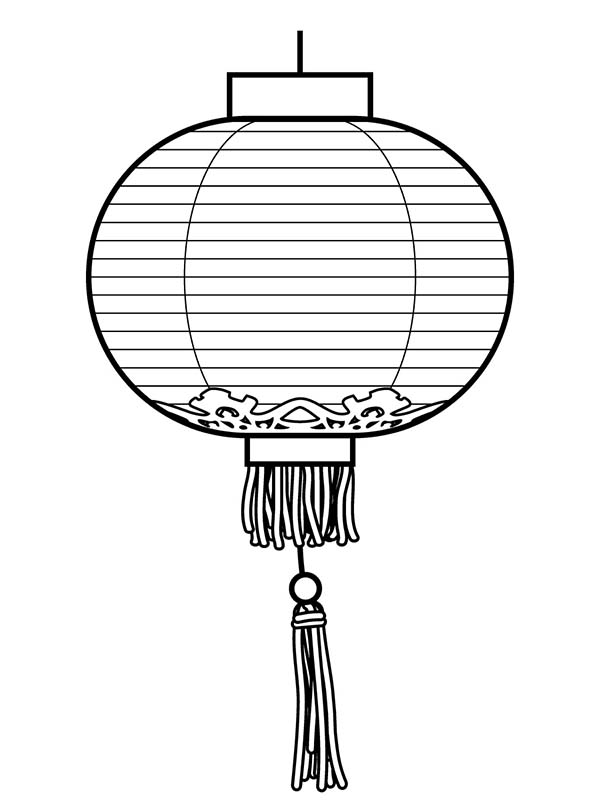 Chinese Traditional Lantern In Chinese Symbols Coloring Page Netart