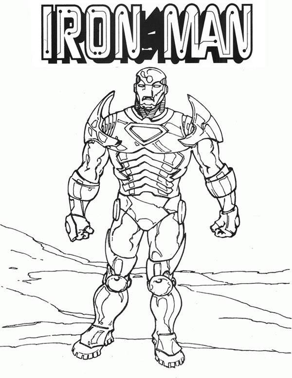 Classic Iron Man Coloring Page NetArt