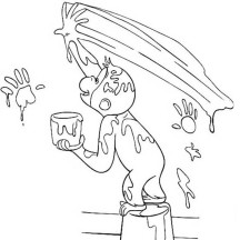 curious george pumpkin coloring pages - photo#36