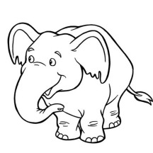Cute Baby Elephant Coloring Page