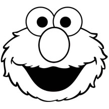 Cute Elmo Face Coloring Page