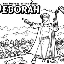 Deborah The Bible Heroes Coloring Page