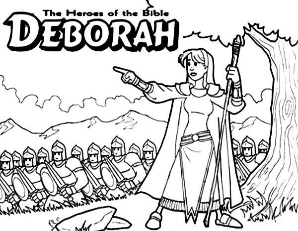 Deborah The Bible Heroes Coloring Page Netart