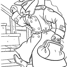 Detective Coloring Page for Kids