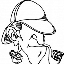 Detective Sherlock Holmes Coloring Page