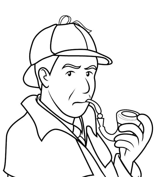 Detective Sherlock Holmes Smoking