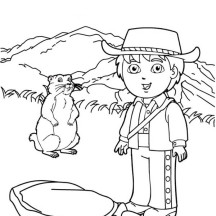 Diego Adventure in Go Diego Go Coloring Page