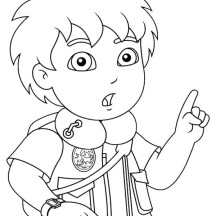 Diego Suddenly Remember Something in Go Diego Go Coloring Page