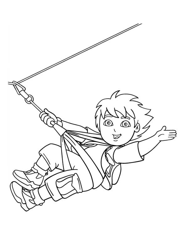 Zip Line Coloring Sheets Coloring Pages