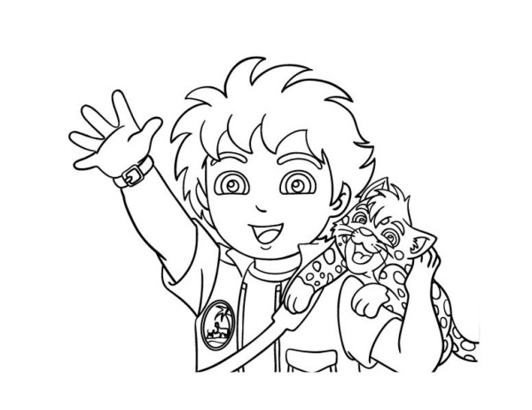 diego baby jaguar coloring pages - photo#8