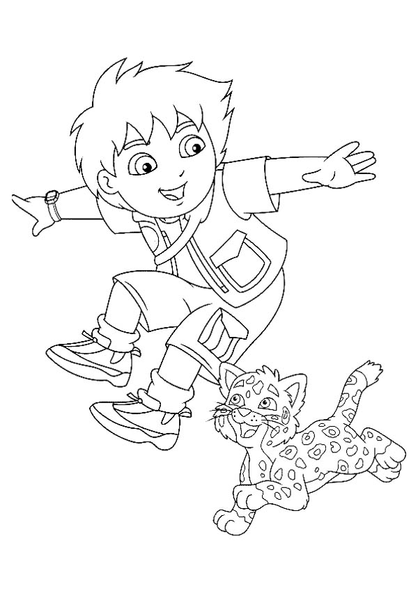 diego baby jaguar coloring pages - photo#10