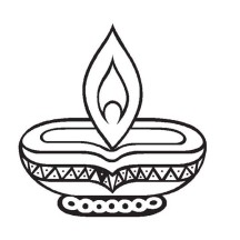 Diwali is a Hindu Festival Coloring Page