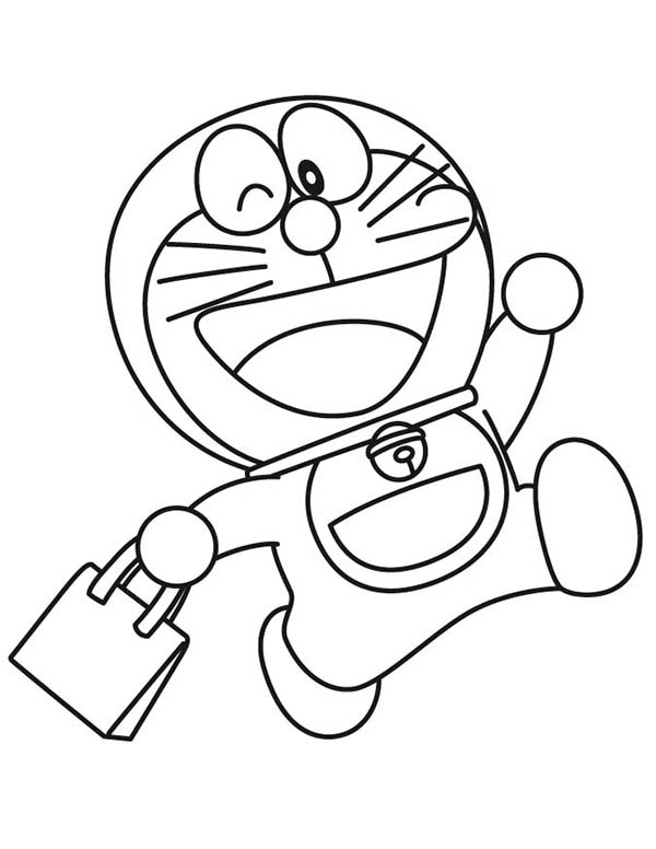 Doraemon Goes Shopping Coloring Pages