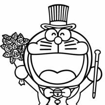 Doraemon Magician Coloring Pages