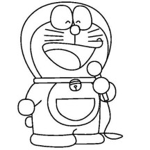 Doraemon Sing a Song Coloring Pages