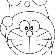 Doraemon Standing with One Hand Coloring Pages