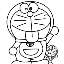 Doraemon with Little Twins of Him Coloring Pages