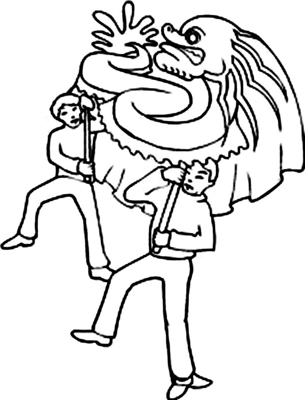 dragon dance coloring pages - photo#12