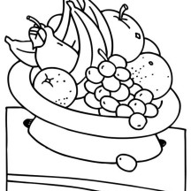 Eat Fruit for Your Health Coloring Page