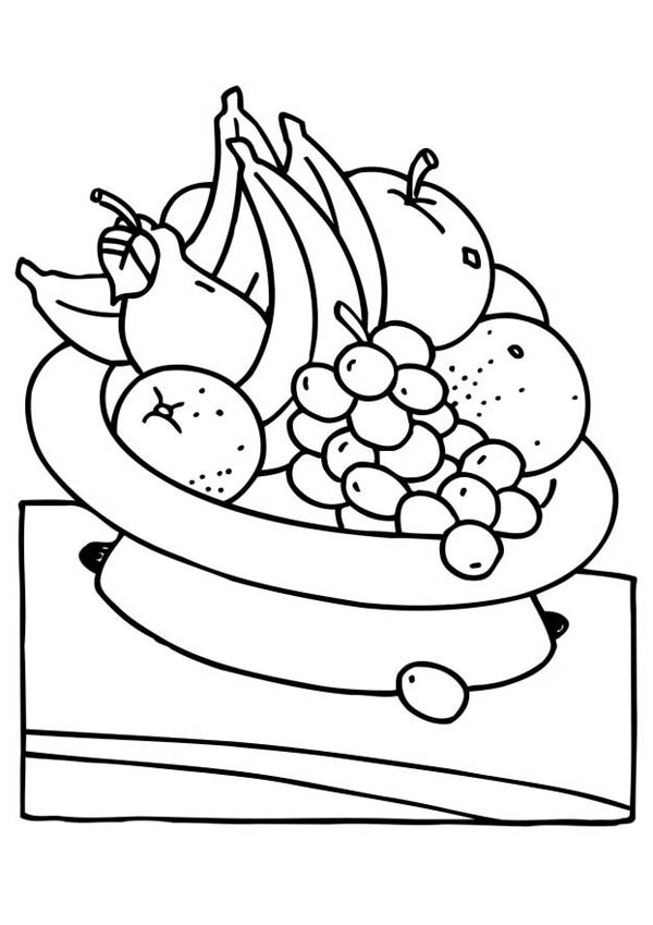 Health Coloring Pages Prepossessing Eat Fruit For Your Health Coloring Page  Netart