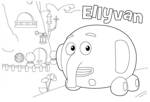 ellyvan from jungle junction coloring page - Jungle Junction Coloring Pages