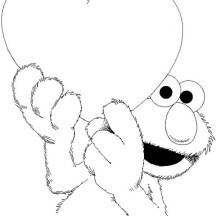 Elmo Has Big Love Coloring Page