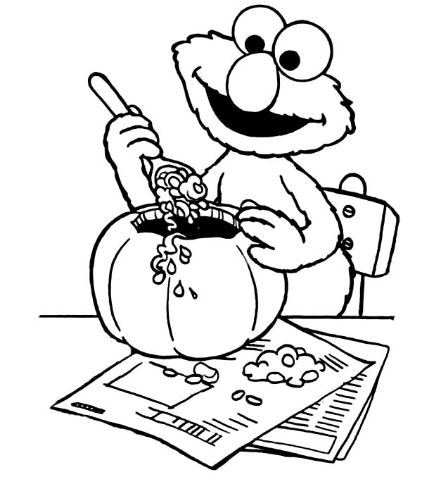 elmo halloween coloring pages - photo#6