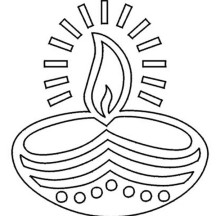 Festival of Lights Diwali Coloring Page