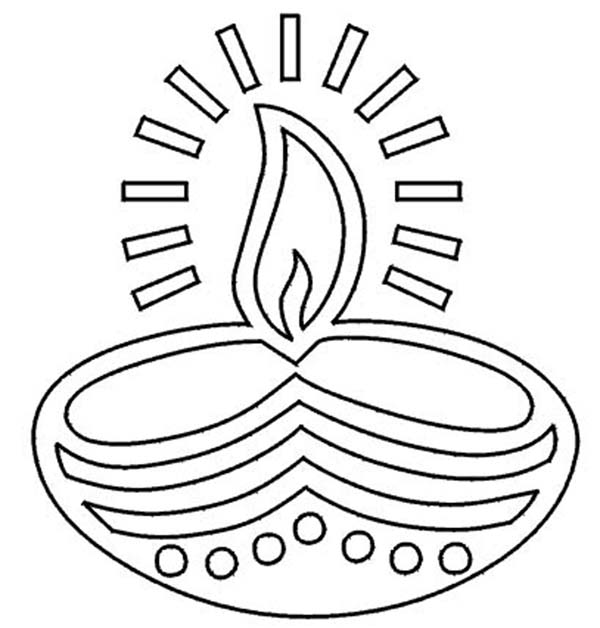 Festival of Lights Diwali Coloring Page NetArt