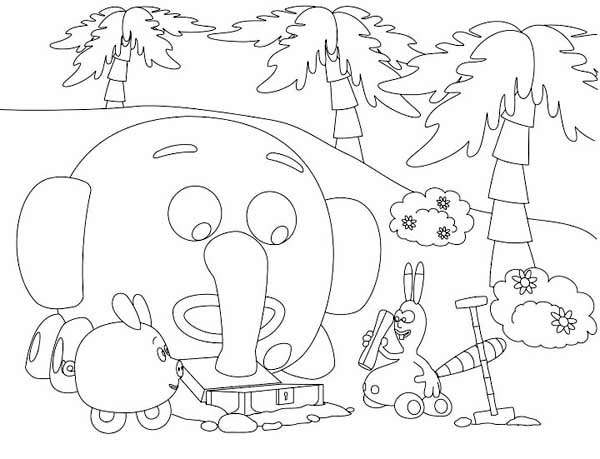 find the treasure in the jungle junction coloring page - Jungle Junction Coloring Pages