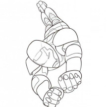 Flying Iron Man Coloring Page