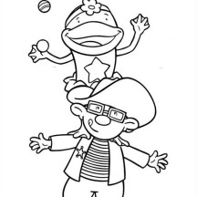 Frog Juggling in Jojo's Circus Coloring Page