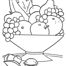 Fruit Coloring Page for Kids