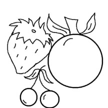 Fruit Image Coloring Page
