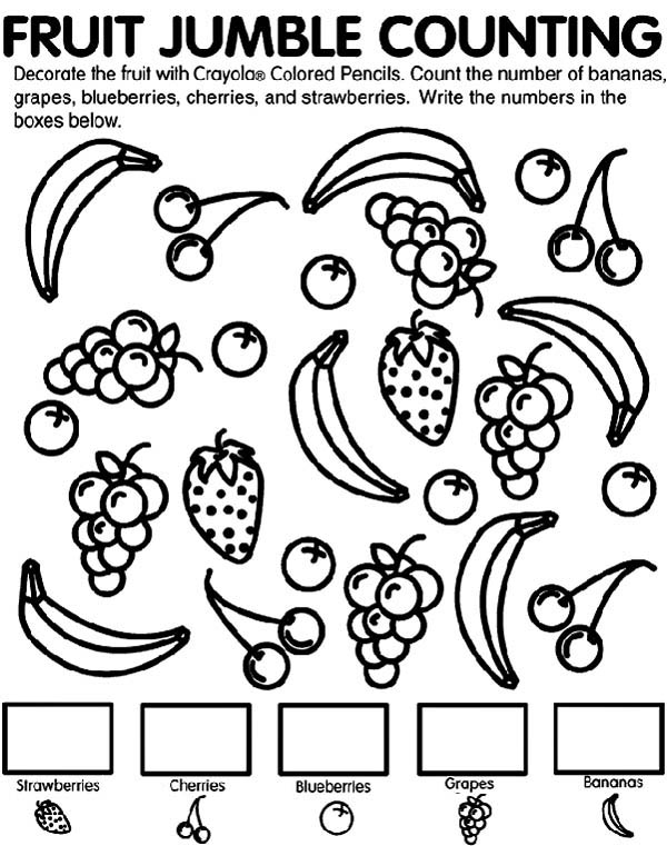 Number names worksheets counting coloring pages free for Color counts coloring pages