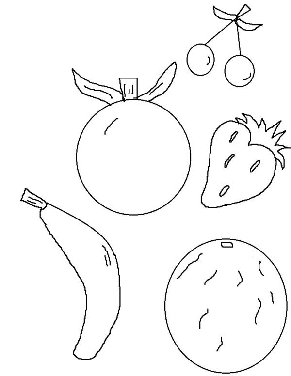 fruit of the spirit coloring page - Fruit Spirit Coloring Page