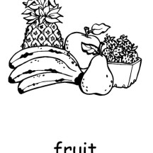 Full of Vitamins Fruit Coloring Page