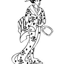 G is for Geisha Coloring Page
