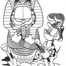 Garfield the Pharaoh Coloring Page