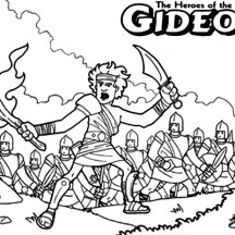 Gideon The Bible Heroes Coloring Page